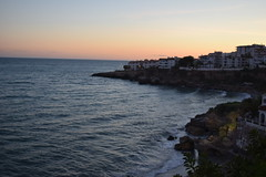 The sun setting on our last evening - from the Balcon De Europa, Nerja