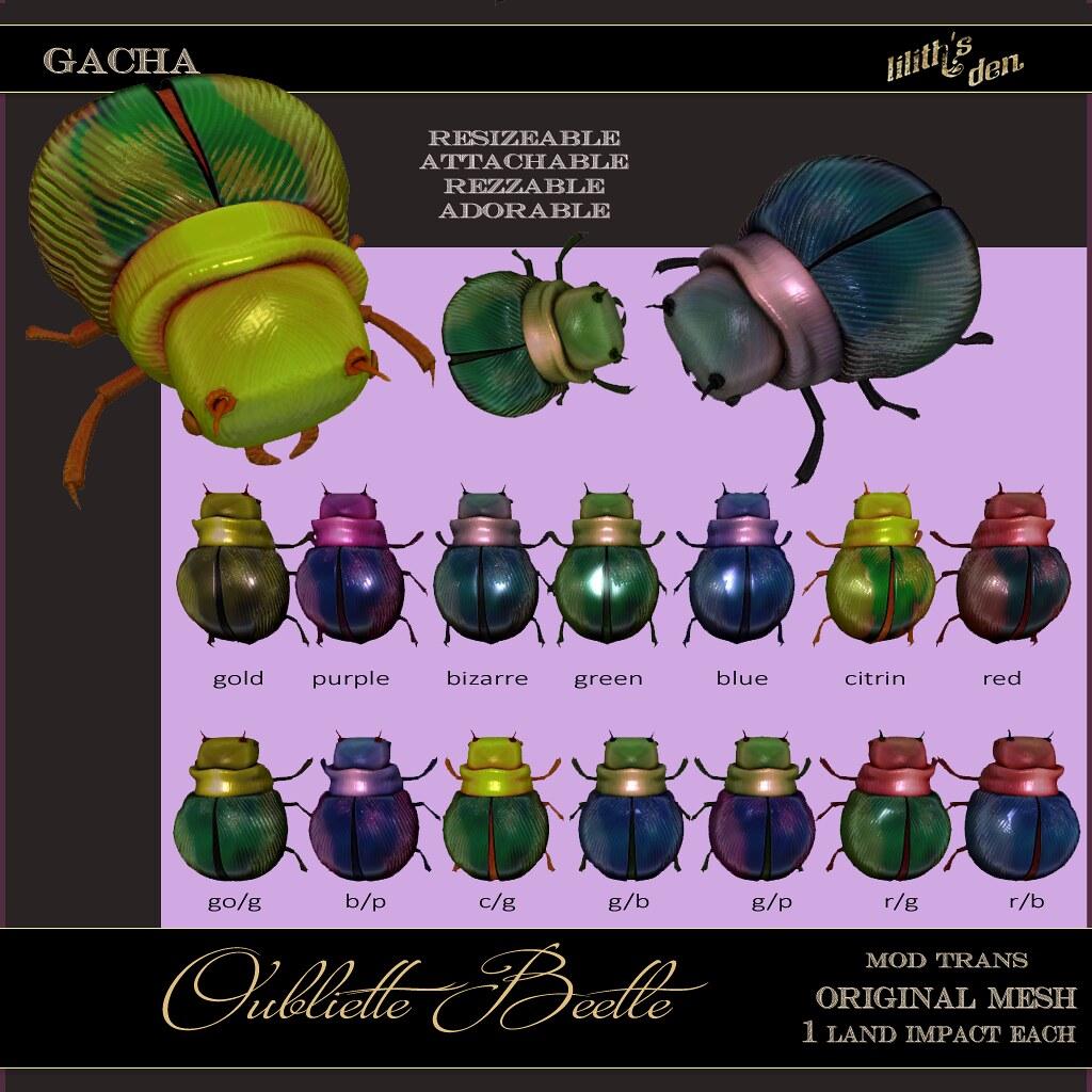 Lilith's Den – Oubliette Beetle Gacha Key