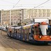 Supertram near Park Hill Sheffield