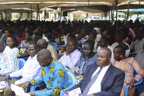 Some of the congregation at the installation of Archbishop Justin Badi Arama