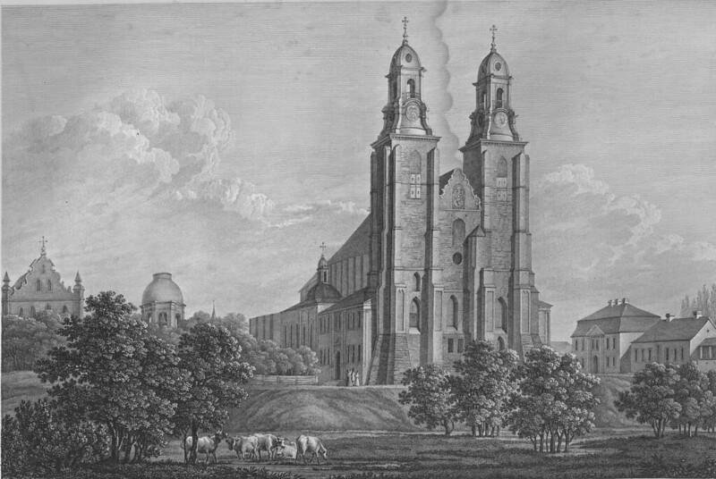 Rycina Edwarda Raczynskiego Kosciol katedralny w Gnieznie wydana (c.1842)