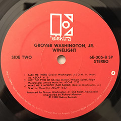 GROVER WASHINGTON, JR.:WINELIGHT(LABEL SIDE-B)