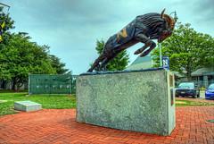 Navy Bill (Bill the Goat) sculpture