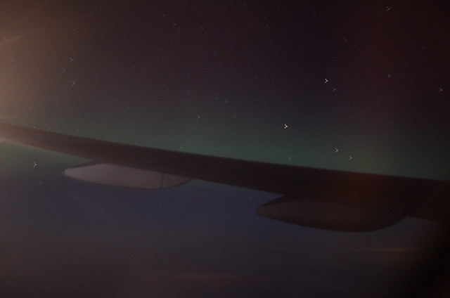 Northern Lights from Plane