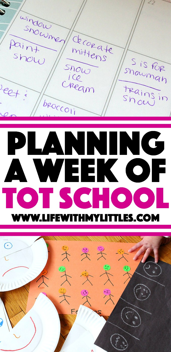 Want a way to teach your toddler without them knowing they are learning? Tot school is the answer! Here's how to plan your weekly schedule.