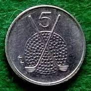 Isle of Man 5 pence golf coin reverse