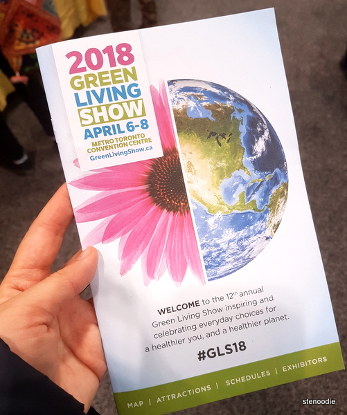 Green Living Show 2018 pamphlet