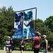 More Glittr Less Bittr banner Christian evangelists vs. Hamilton Pride festival Gage Park.JPG