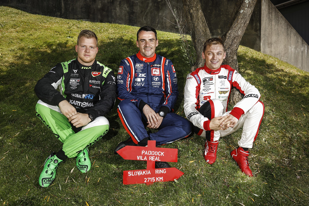 ZSABO Zsolt David, (hun), Seat Cupra TCR team Zengo Motorsport, portrait MICHELISZ Norbert, (hun), Hyundai i30 N TCR team BRC Racing, portrait HOMOLA Mato, (svk), Peugeot 308 TCR team DG Sport Competition, portrait during the 2018 FIA WTCR World Touring Car cup of Portugal, Vila Real from june 22 to 24 - Photo Francois Flamand / DPPI
