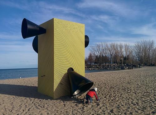 Make Some Noise!!! (2) #toronto #winterstations #beaches #woodbinebeach #makesomenoise #publicart #latergram