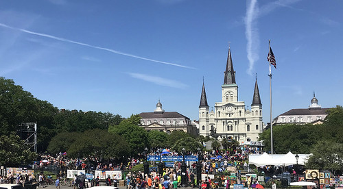 Jackson Square on Day 1 of French Quarter Fest 2018 - April 12. Photo by Stafford.