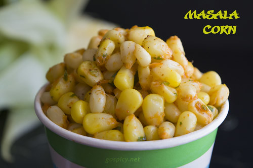 Masala Sweet Corn Recipe by GoSpicy.net