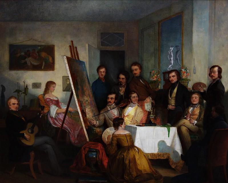 Thomas Pritchard Rossiter - A Studio Reception, Paris (1841)
