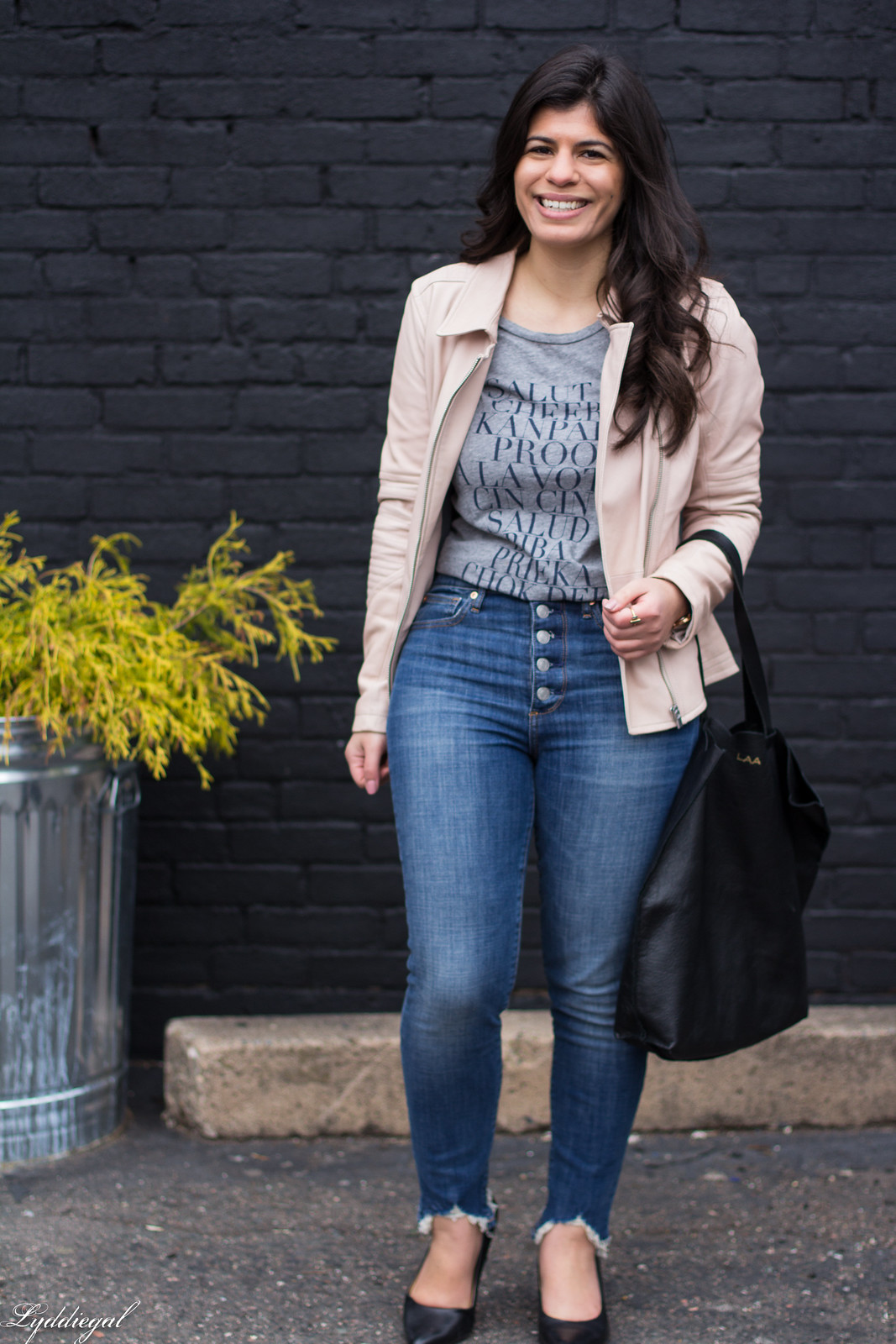 blush leather moto jacket, button fly jeans, cheers tee-4.jpg