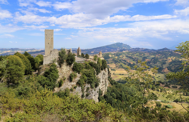 Highly situated fortress of Montefalcone Appennino