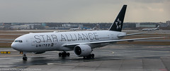United 777 in Star Alliance colors at FRA
