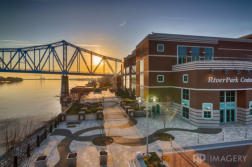 riverpark blue sunrise bridge river center park elevated owensboro downtown