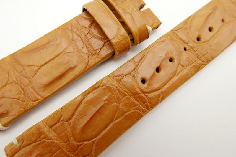 610687bb77c 22mm Tan Brown Genuine Crocodile Skin Leather Watch Strap  WT1685 ...