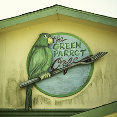 The Green Parrot Cafe Sign