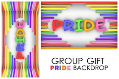 Pride Backdrop Group Gift