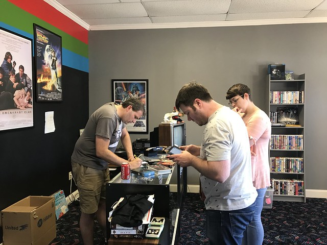 Tim checking out some tapes