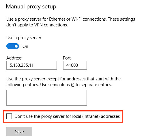Step 6 how to use SOCKS5 proxies in Microsoft Edge browser