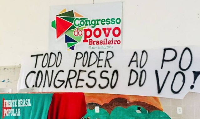 Cartaz da reunião preparatória do Congresso do Povo realizada em Sergipe - Créditos: Movimento dos Pequenos Agricultores