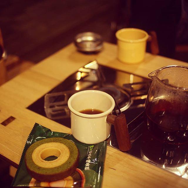 20180413 再晚 還是要跟你喝杯咖啡 #歐北露 #campinglife #ilovecamping #truvii #TruviiTableXOne #全聯抹茶季