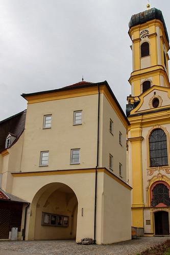 Entrance gate to the churchyard in Maria Steinbach