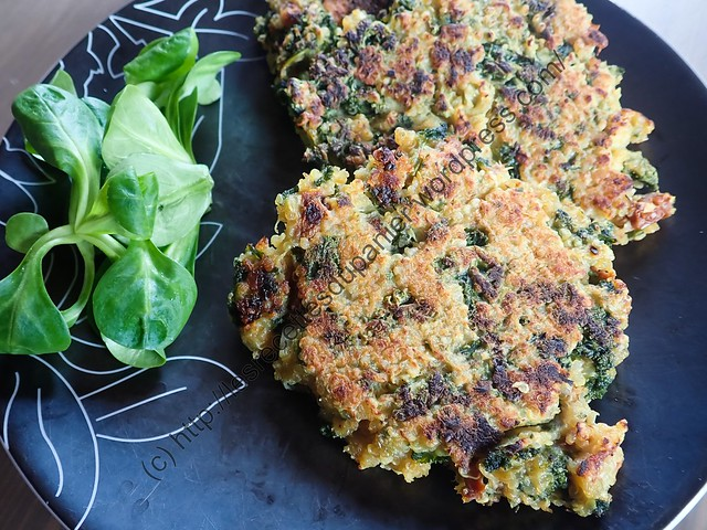 Galettes au Quinoa et Chou frisé / Quinoa and Kale Patties
