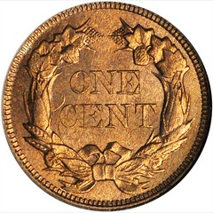 1857 Flying Eagle Cent reverse