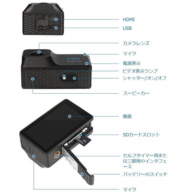 TEC.BEAN T3 アクションカメラ (5)