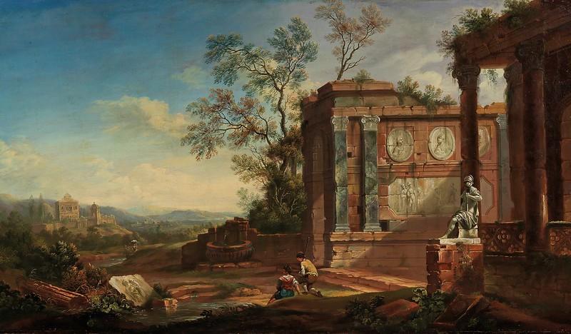 Christian Georg Schütz - Gebirgige Flusslandschaft (1752)