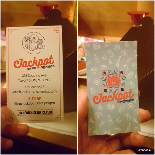 Eat Jackpot business card