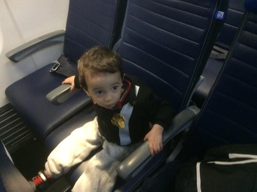 Ezra on a plane