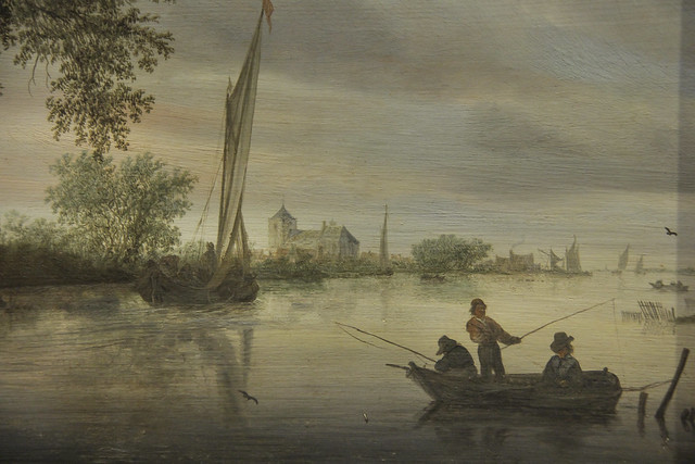 Detail - River Scene, Salomon Jacobsz. van Ruysdael, 1645