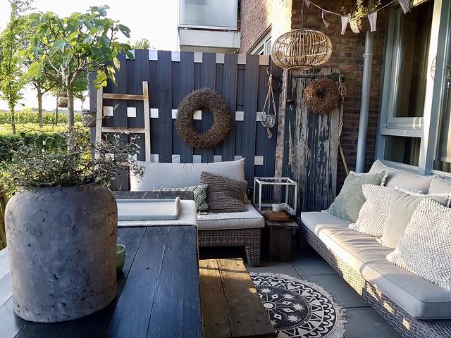 Overkapping veranda terras ideeën landelijke stijl