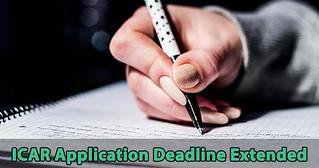 ICAR Application Deadline extended