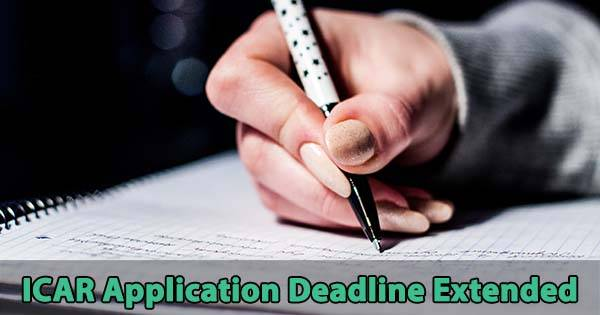 icar aieea application deadline extended