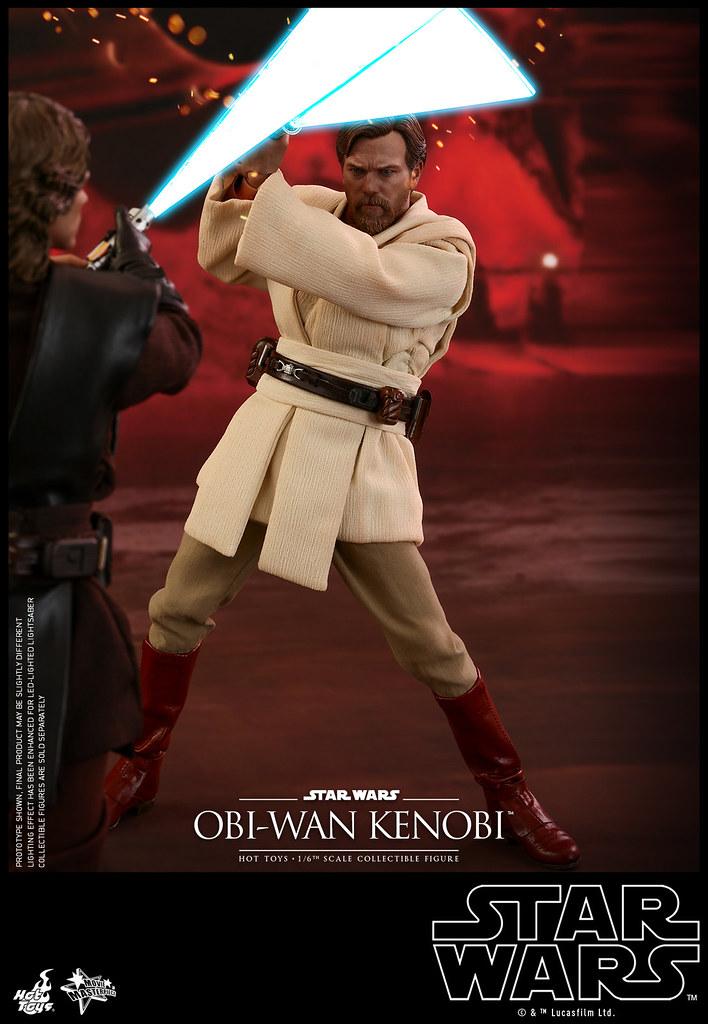 「結束了,安納金,我已佔據了高地優勢!」Hot Toys - MMS477 -《星際大戰三部曲:西斯大帝的復仇》歐比王·肯諾比 Obi-Wan Kenobi 1/6 比例人偶作品