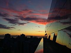 Por-do-sol visto do hotel.