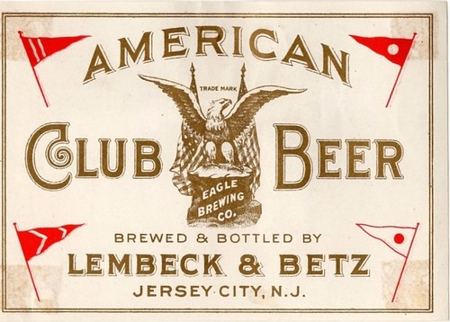 American-Club-Beer-Labels-Lembeck--Betz-Eagle-Brewing-Co