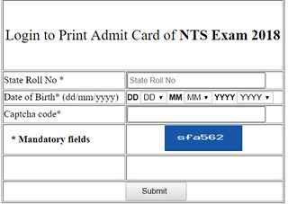 NTSE Stage 2 Admit Card