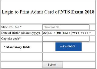 NTSE Stage 2 Admit Card