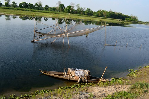 Fishing net, Majuli island