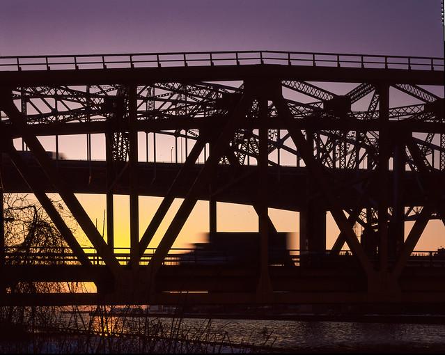 Burlington Lift Bridge Sunset