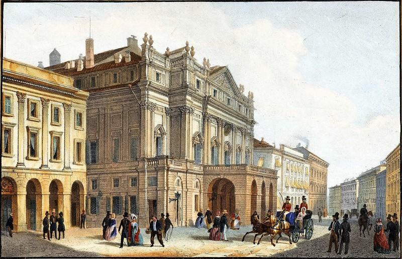Mailand-Blick auf das Teatro della Scala