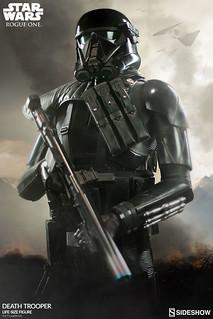 Sideshow Collectibles《星際大戰外傳:俠盜一號》帝國死亡兵 Death Trooper 1:1 比例全身雕像作品