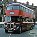 09-72 September 1972 KYG313D AEC Regent V  departs Christ Church, Doncaster.