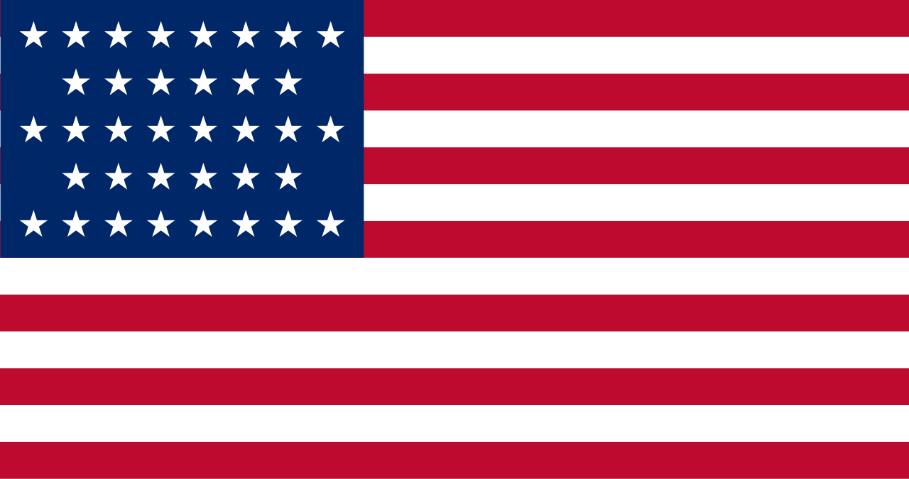 Flag of the United States of America (July 4, 1865 to July 3, 1867) - 36 stars